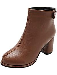 Sonnena - Botines cortos para mujer Botines Zapatos de invierno Casual