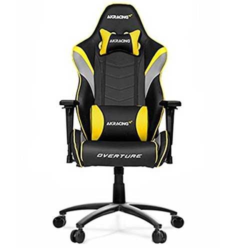 AKRacing Overture - AK-OVERTURE-YL - Silla Gaming, Color Negro/Amarillo