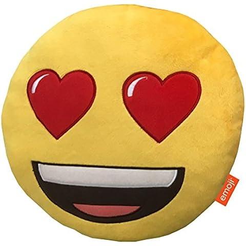 Emoji Cuscino di peluche a forma di cuore, occhi, (Miller Cuscino Decorativo)