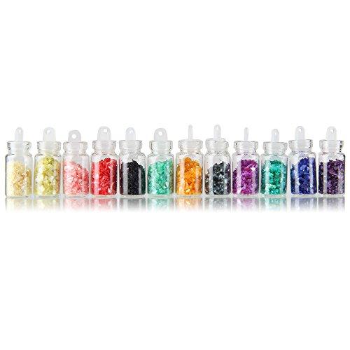 Beauty7 Nail Art 12 Boîtes 3D Poudre de Coquille Glitter Paillette Poussière Micro Billes Pour Ongle Décorations Vernis à Ongles UV Gel Manucure DIY