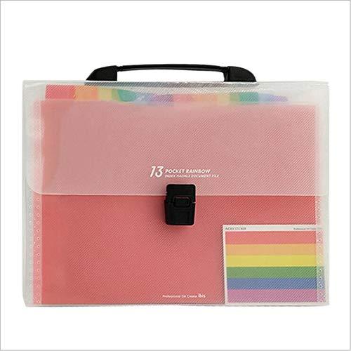 13-Grid Tragbare Orgel Tasche PP Mehrschichtige Ordner Test Papier Aufbewahrungstasche Büro Dinge Tasche Tragbare Aufbewahrungstasche (Receipts Datei-ordner)