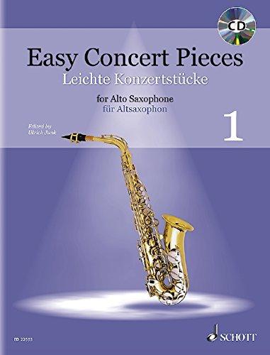 Easy Concert Pieces: 23 Stücke aus 5 Jahrhunderten. Band 1. Alt-Saxophon und Klavier. Ausgabe mit CD.