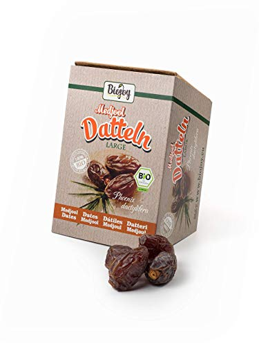 Biojoy BIO-Medjool-Datteln aus Israel (1 kg) | auf über 500 Pestizide geprüfte Medjoul-Datteln...