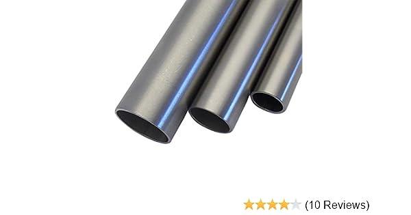 Korn 240 L/änge 500 mm Abmessungen /Ø 21,3mm x 2,0mm V2A Edelstahl Rohr rund Oberfl/äche geschliffen