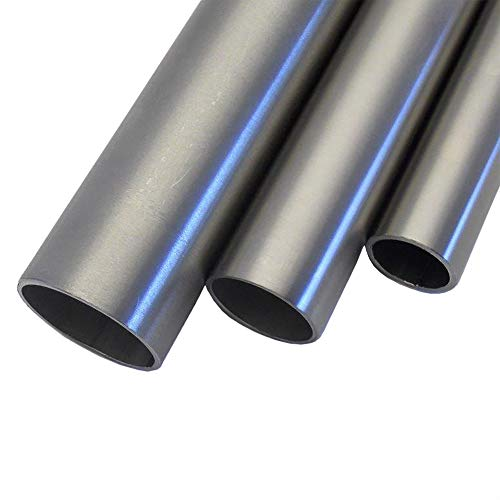 Edelstahl V2A Rohr rund Oberfläche geschliffen, Korn 240. FRACHTFREI. Länge 2000 mm Abmessungen Ø 33,7mm x 2,0mm -