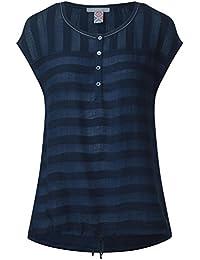 CECIL Damen Bluse mit Streifenstruktur