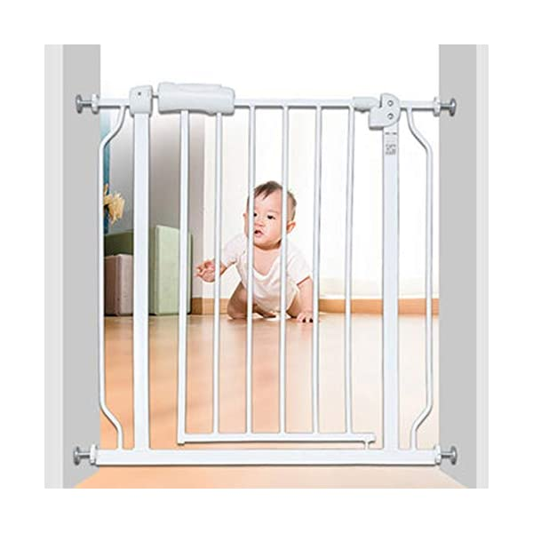 Baby child safety gate bar baby stairway fence pet fence dog fence pole isolation door dog fence AA-SS-Safety Door ♥Squeeze and lift handle for easy one handed adult opening ♥Quick-release fittings for removal when not required ♥Includes stop pins for mounting at the top of stairs 5