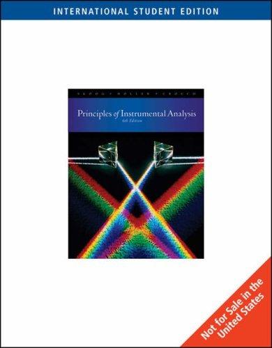 By Douglas A. Skoog - Instrumental Analysis Principles (International ed of 6th revised ed)