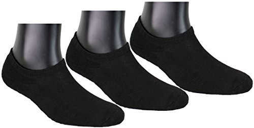 Neska Moda Women's Liners Socks (Pack of 3) (S190-PlnRub-U-CoSho-Blk-106-3Pc-New_Black_Free)