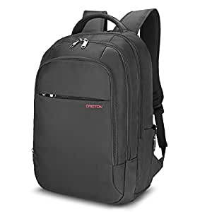 OMOTON Laptop Backpack with Anti-theft Compartment, Water-resistant Unisex Casual Computer Backpack for College School/Business Trip/Outdoor -Fits up to 15.6'' Laptop and Tablets, Black
