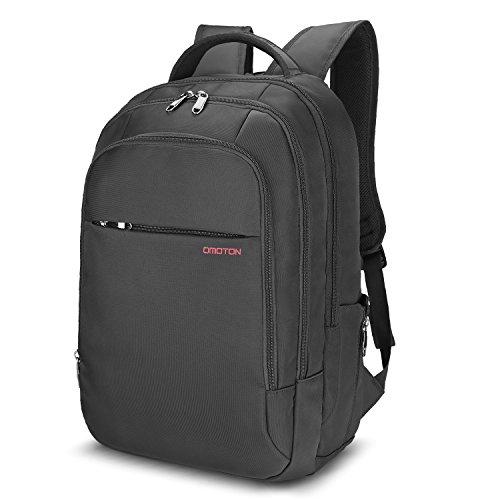 Preisvergleich Produktbild OMOTON Laptop Rucksack für alles Tablet und Laptops bis zu 15,6 zoll, zur Arbeit und Reise [ wasserabweisend][Anti-Diebstahl][geräumig],passt für Damen und Herren, schwarz