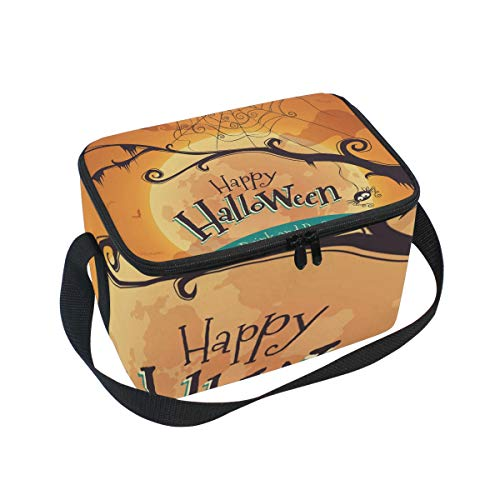 SKYDA Lunchpaket Box Insulated Lunchpaket Bag Large Cooler Halloween Poster Tote Bag for Men, Women, Girls, Boys