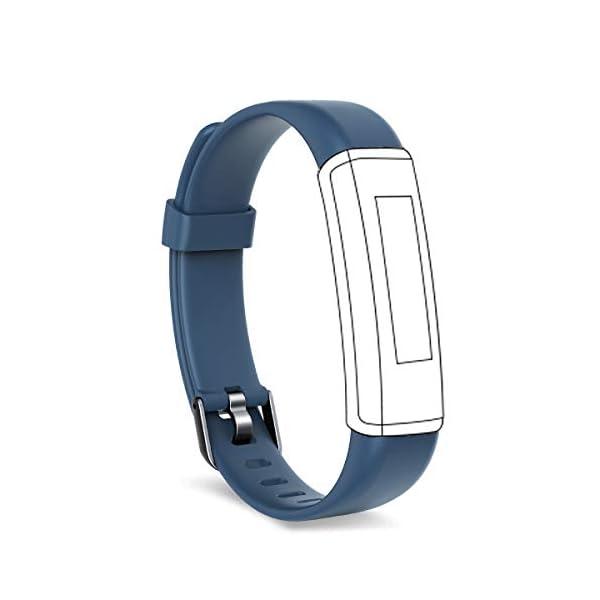 Shinmax Fitness Tracker, Monitor de Ritmo cardíaco Inteligente IP67 Mujeres Hombres Correa Pulsera Inteligente 1