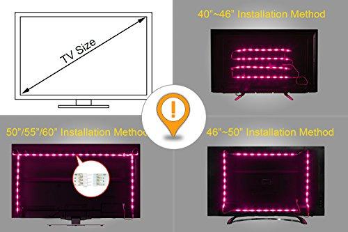 confronta il prezzo LED retroilluminazione TV, illuminazione bias USB 2M con 16 colori e 4 modalità dinamica per HDTV da 40 a 60 pollici, monitor PC, led strip light. miglior prezzo