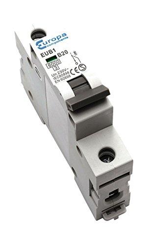 Bulk Hardware BH04186 63 A Miniatursicherung Typ B, Weiß