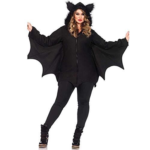 Hcxbb-b Halloween Damen Vampir Fledermaus Kostüm, Übergröße, Kostümparty Cosplay Outfit for Erwachsene Damen (Farbe : Black, Size : - Sexy Vampir Übergröße Kostüm