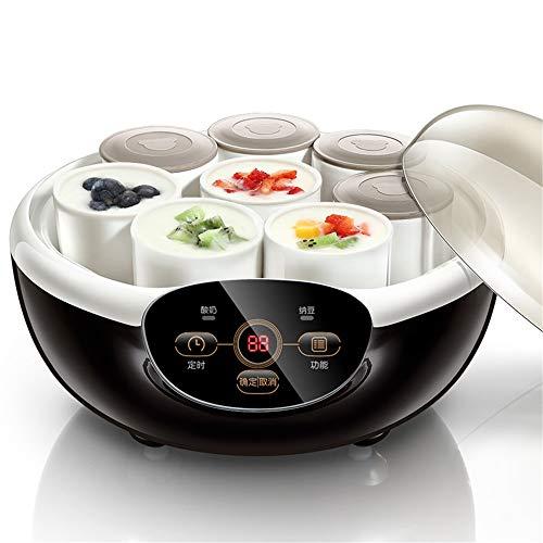 JUZEN Elektro-Joghurt-Maschine Startseite Joghurt-Maschine DIY Edelstahl Liner Küchenutensilien, 1000ML, senden Sub-Cup - Kommerziellen Stil Edelstahl