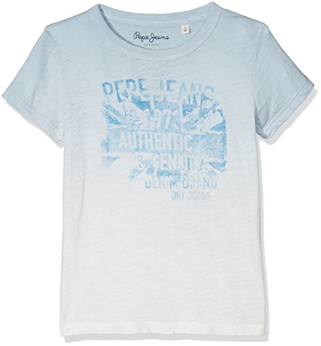 pepe-jeans-johan-jr-t-shirt-garcon-blanc-off-white-fr-14-ans-taille-fabricant-14