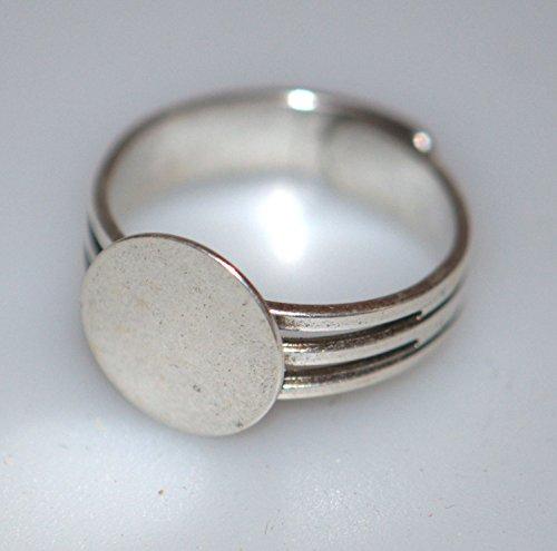 Preisvergleich Produktbild Mit Platin-Ring Runde Ø 12 mm,  silber
