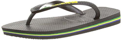 Havaianas - Hav. Brasil Logo, Sandali, unisex Nero (Black)