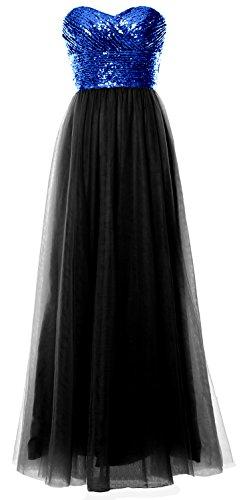 MACloth - Robe - Trapèze - Sans Manche - Femme Royal Blue-Black