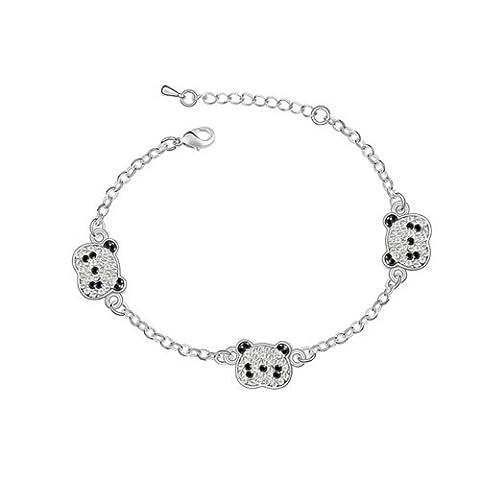 Dreamslink Fashion Jewellery 18 k plaqué or blanc chaîne avec cristaux d