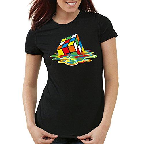 style3 Sheldon Cubo Mágico Camiseta para mujer T-Shirt, Talla:S