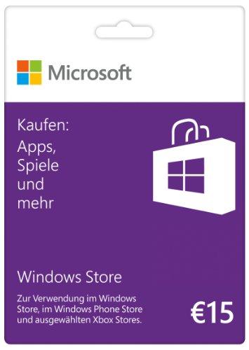 Microsoft Windows Store 15 EUR Guthabenkarte (Xbox 360 ältere Spiele)