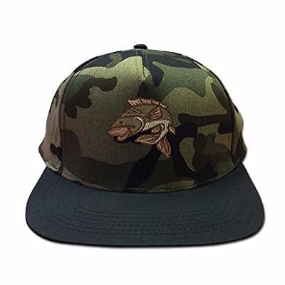 Snapback Hats for Men Flat Peak Caps Carp Fishing Animal Face Baseball Cap Embroidered Summer Mens Hats from BANG TIDY CLOTHING