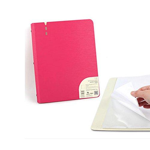 Liu Yu·Espace bureau, fournitures de bureau A4 feuille à feuilles mobiles dossier piano spectre bouchon poche multi-couche transparent rouge 40 pages