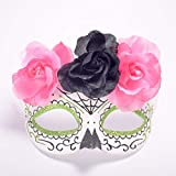 WDERYL Halloween venezianische Maske, italienische Venedig Premium Maske Flache Stirnband Blume Karneval Party Maskerade Maske -