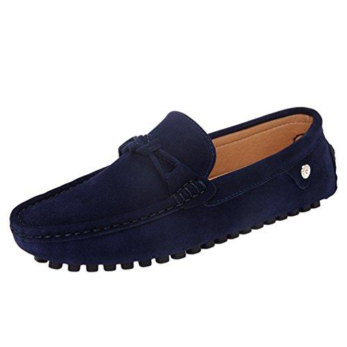 Jitong scarpe da barca uomo mocassini loafer di piatto leggero casuale faux pelle loafer (blu scuro, cn 40)