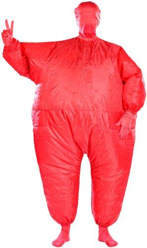 Playtastic Kostüme Selbstaufblasend: Selbstaufblasender Ganzkörperanzug, rot (Aufblasbare (Deckenventilator Kostüme)