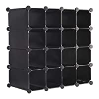 MultiWare Interlocking Shoe Rack Organizer Cube Durable Storage Stand 16 Pairs Multi Colors