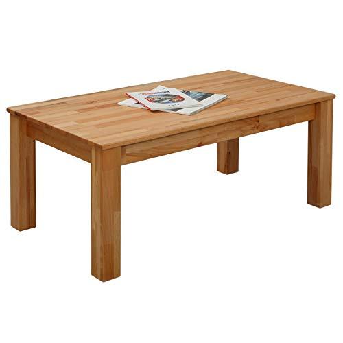 Table basse en hêtre Bonn 110 x 60 x 45 cm en bois massif