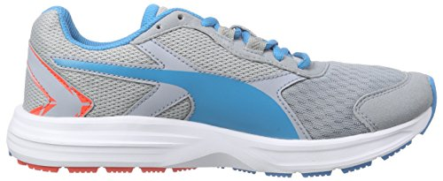 Puma  Descendant v3 Jr, Sneakers Basses mixte enfant Gris - Grau (quarry-atomic blue 05)
