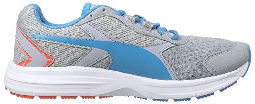 Puma - Descendant V3 Jr, Scarpe da ginnastica Unisex – Bambini Grau (quarry-atomic blue 05)