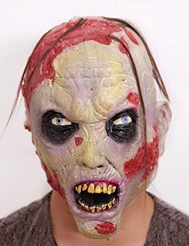 Scary Halloween Maske Horror Ghost Maske Soft Latex Biochemische Alien Zombie Maske (Farbe : Zombie) (Halloween Zombie Pj)