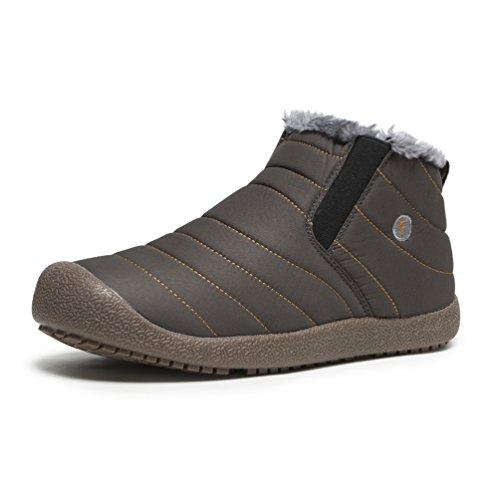 AFFINEST Winterstiefel im Freien warme Baumwollschuhe Stiefeletten weich und bequem für Männer und Frauen neutrale alte (Kostüm Stiefel Männer)