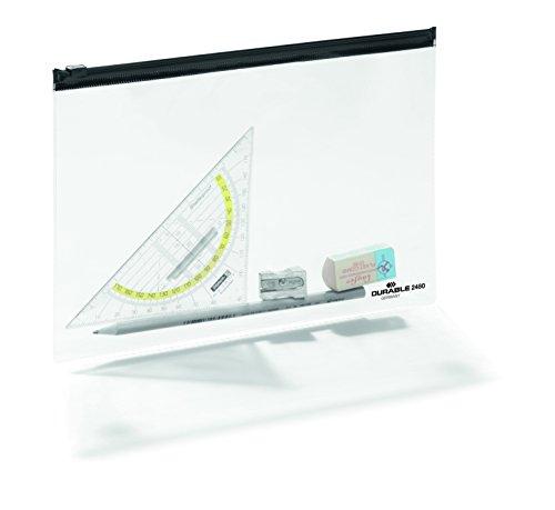 Durable 248001 Reißverschlusstasche A5, 5 Stück transparent