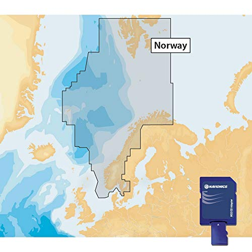 Navionics Plus 49XG Norway Marine & Lake Charts on SD/MSD Küsten-charts
