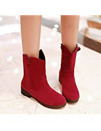 Mujer Zapatos PVC Primavera verano Botas de lluvia Botas Tacón Bajo Botines / Hasta el Tobillo Rojo / Almendra wnuSgGqTBL