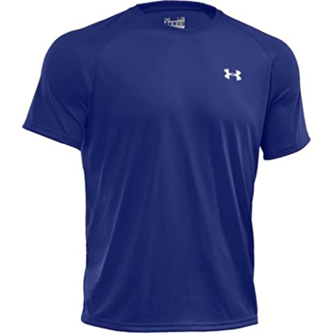 Under Armour Tech T-Shirt manches courtes Homme Royal FR : L (Taille Fabricant : LG)