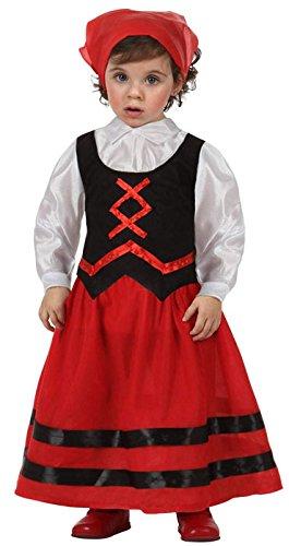Imagen de atosa  disfraz de pastora rojo y negro , t 12 24 mes