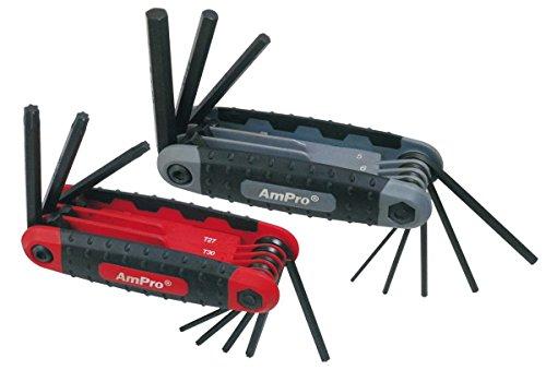 Ampro T22981 Monture Clés Males Torx, Set de 16