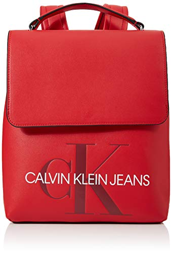 Calvin Klein - Sculpted Monogram Flap Backpack,...
