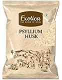 Exotica Natural Psyllium Whole Husk | Sat Isabgol (Bhusi) Husk - 400 Grams Fiber Supplement - Perfect for Keto Bread and…