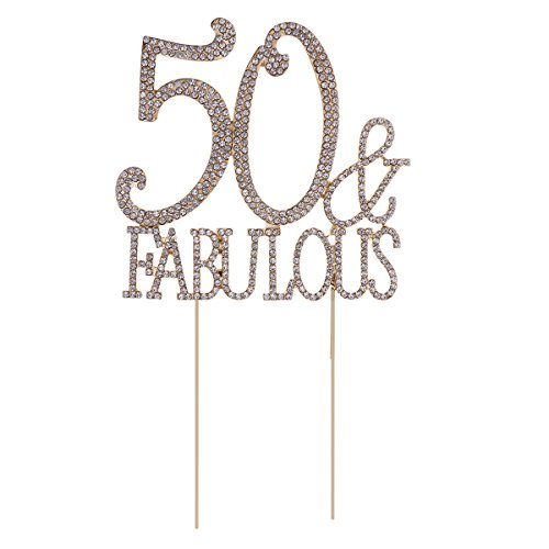 Rhinestone Gold Crystal Diamante Birthday Anniversary Cake Topper Number Pick Uk Durable Modeling Kitchen, Dining & Bar