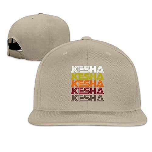 Xukmefat Unisexe Kesha Retro Motif Motif Réglable Brim Chapeau Casquette de Baseball Hip Hop Chapeau 0793