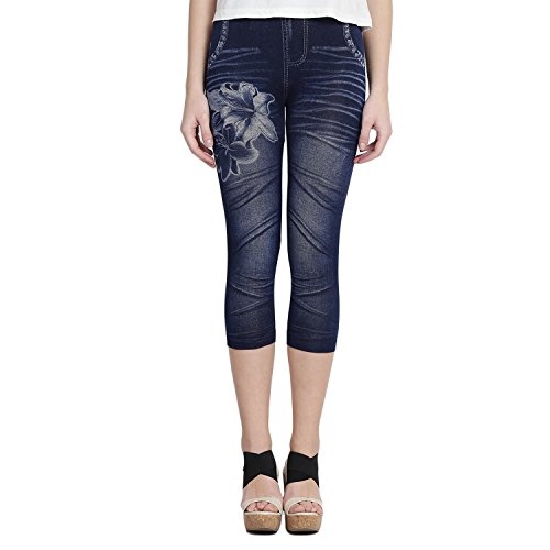 Camey Girls Printed Denim Stretchable Jegging/Legging (5-8 Years).